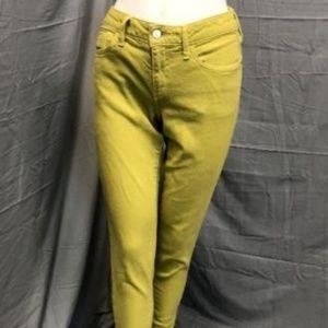 Anthropolgie Pilcro Mustard Skinny Jeans 30x32